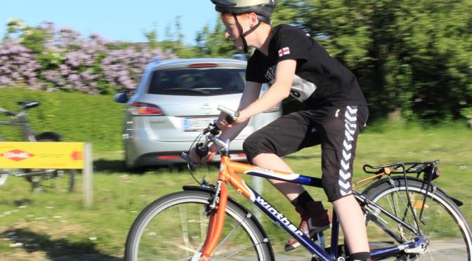 Glade cykelryttere